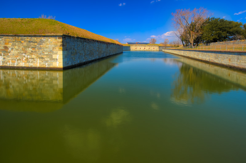 Moat- Fort Monroe, Virginia | ZEISS ZA VARIO-SONNAR DT F3.5-F4.5 16-80MM <br> Click image for more details, Click <b>X</b> on top right of image to close
