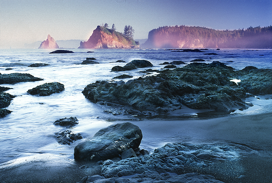 Sott's Cove at dawn. Olympic Nat. Park, Washington | LENS MODEL NOT SET <br> Click image for more details, Click <b>X</b> on top right of image to close