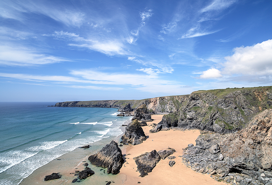 Bedruthan Steps, North Cornwall, England | ZEISS DISTAGON F2.8 21MM <br> Click image for more details, Click <b>X</b> on top right of image to close