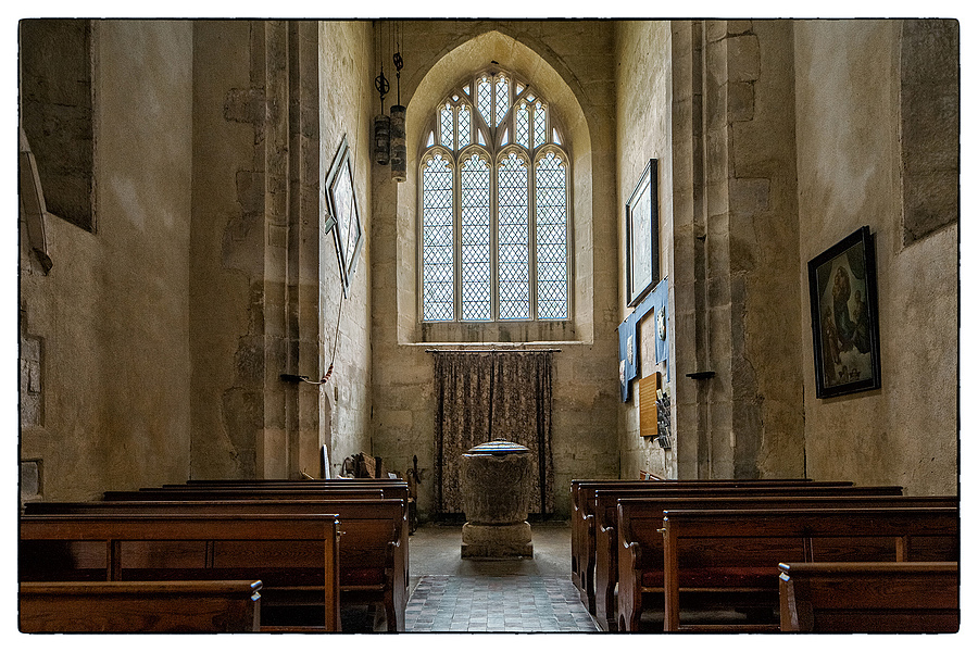 Early Norman Font, The Parish Church of St James, Avebury, Wiltshire | LENS MODEL NOT SET <br> Click image for more details, Click <b>X</b> on top right of image to close